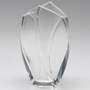 "Baccarat • 7"" Signed Rigot Crystal Giverny Vase"